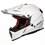 Шлем LS2 MX437 FAST SOLID White